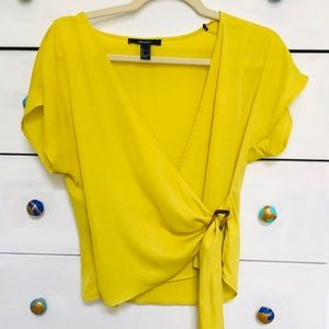 Forever 21 Lime Chiffon Blouse